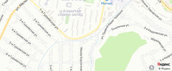 Улица им М.В.Зорина на карте Златоуста с номерами домов