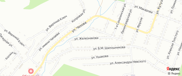 Улица им А.Г.Железнякова на карте Златоуста с номерами домов