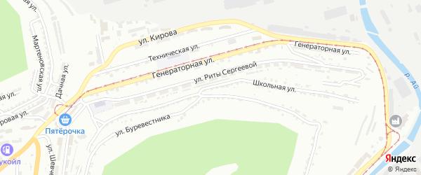 Школьная улица на карте Златоуста с номерами домов