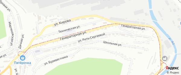 Улица им Риты Сергеевой на карте Златоуста с номерами домов