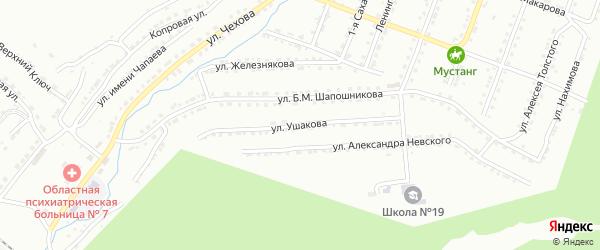 Улица им Ф.Ф.Ушакова на карте Златоуста с номерами домов