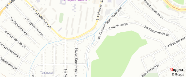 Улица Левый Берег Чувашки на карте Златоуста с номерами домов