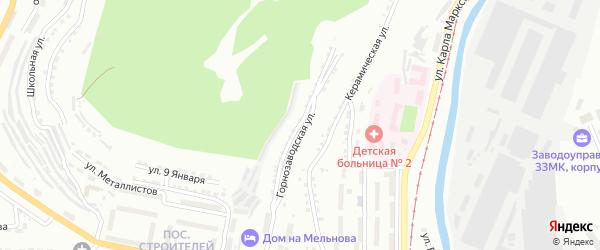 Горнозаводская улица на карте Златоуста с номерами домов