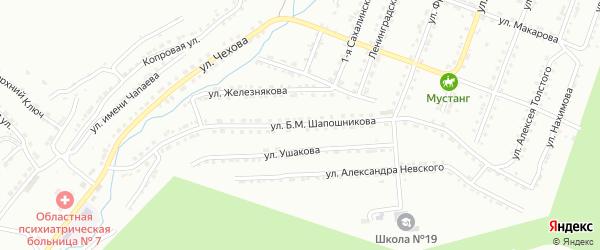 Улица им Б.М.Шапошникова на карте Златоуста с номерами домов