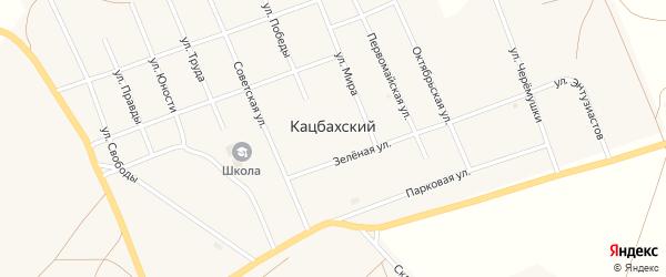 Советская улица на карте Кацбахского поселка с номерами домов
