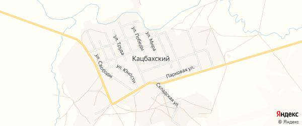 Карта Кацбахского поселка в Челябинской области с улицами и номерами домов