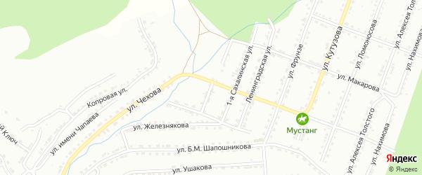 Сахалинская 2-я улица на карте Златоуста с номерами домов
