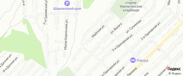 Майская улица на карте Златоуста с номерами домов