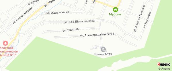 Улица им Александра Невского на карте Златоуста с номерами домов