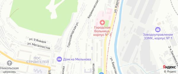 Улица Сталеваров на карте Златоуста с номерами домов