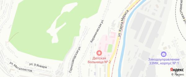 Керамическая 3-я улица на карте Златоуста с номерами домов