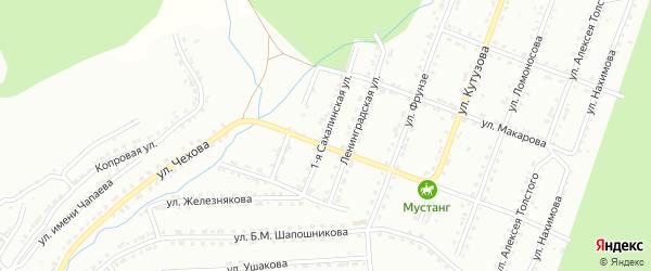 Сахалинская 1-я улица на карте Златоуста с номерами домов