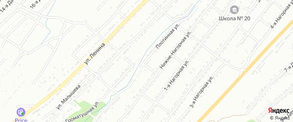 Плотинная улица на карте Златоуста с номерами домов