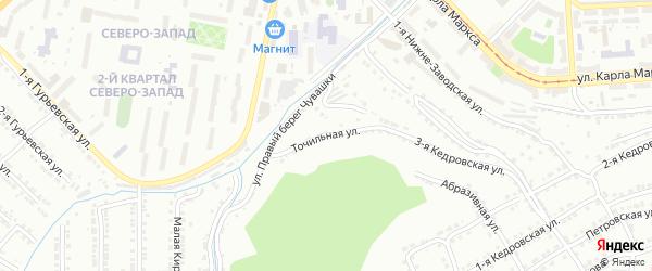 Точильная улица на карте Златоуста с номерами домов