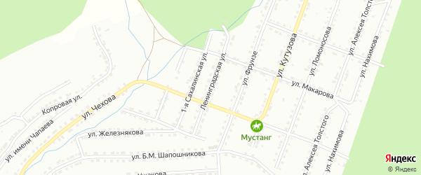 Ленинградская улица на карте Златоуста с номерами домов