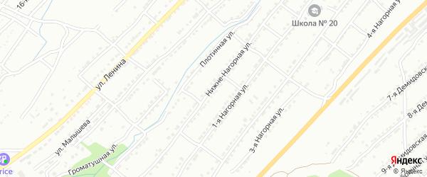 Нижне-Нагорная улица на карте Златоуста с номерами домов
