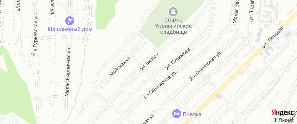 Улица им А.Л.Ванага на карте Златоуста с номерами домов