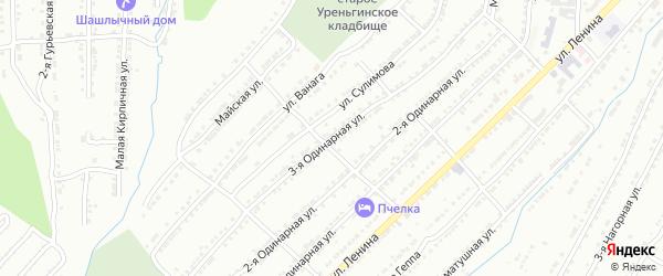 Одинарная 3-я улица на карте Златоуста с номерами домов