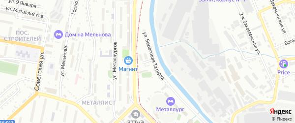 Керамическая улица на карте Златоуста с номерами домов