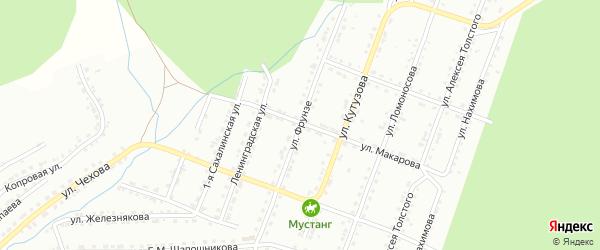 Улица им М.В.Фрунзе на карте Златоуста с номерами домов