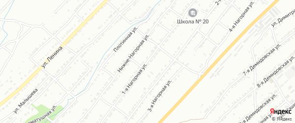 Нагорная 1-я улица на карте Златоуста с номерами домов
