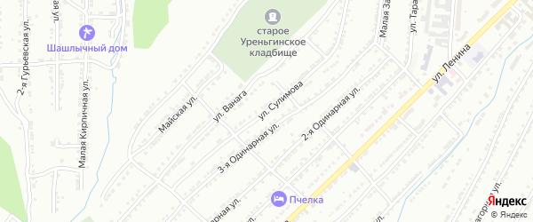 Улица им В.П.Сулимова на карте Златоуста с номерами домов