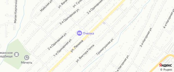 Улица Ленина на карте поселка Тундуша с номерами домов
