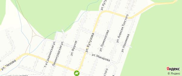 Улица им М.И.Кутузова на карте Златоуста с номерами домов