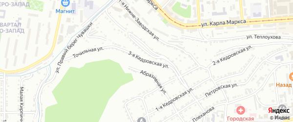 Кедровская 3-я улица на карте Златоуста с номерами домов