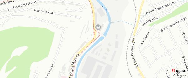 Улица им Карла Маркса на карте Златоуста с номерами домов