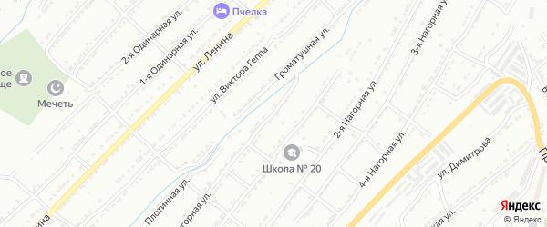 Нагорная улица на карте поселка Тундуша с номерами домов