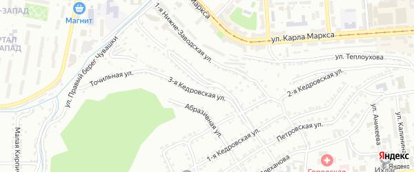 Нижне-Заводская 2-я улица на карте Златоуста с номерами домов