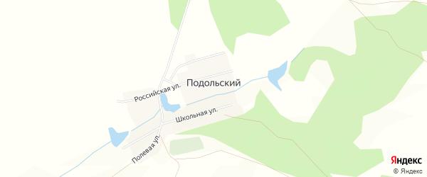 Карта Подольского поселка в Челябинской области с улицами и номерами домов
