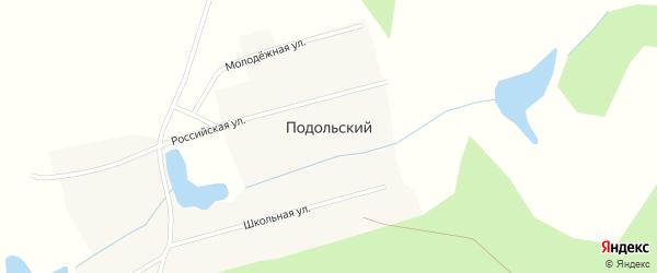 Российская улица на карте Подольского поселка с номерами домов