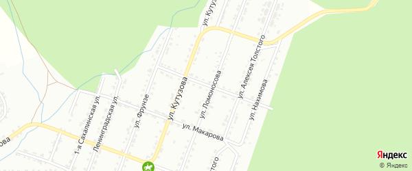 Улица им Минина и Пожарского на карте Златоуста с номерами домов