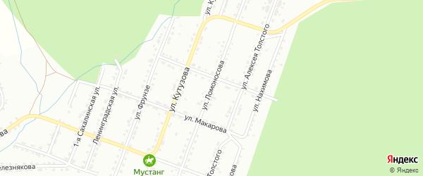 Улица им М.В.Ломоносова на карте Златоуста с номерами домов