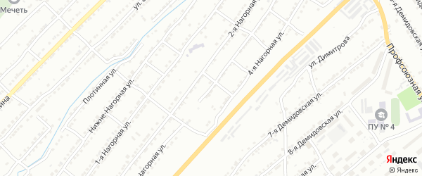 Нагорная 3-я улица на карте Златоуста с номерами домов