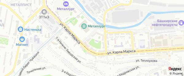 Клубный переулок на карте Златоуста с номерами домов