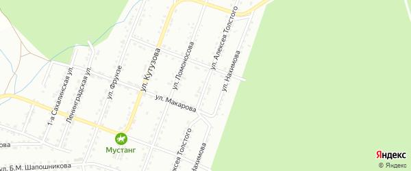 Улица им Алексея Толстого на карте Златоуста с номерами домов