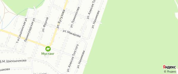 Улица им П.С.Нахимова на карте Златоуста с номерами домов