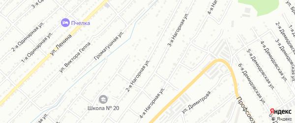 Нагорная 2-я улица на карте Златоуста с номерами домов