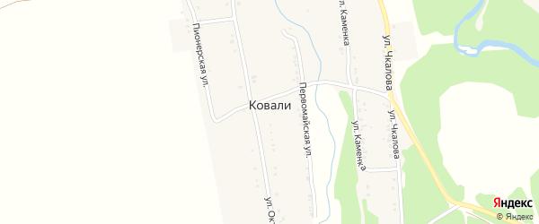 Пионерская улица на карте поселка Ковали с номерами домов