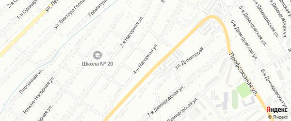 Айская 4-я улица на карте Златоуста с номерами домов