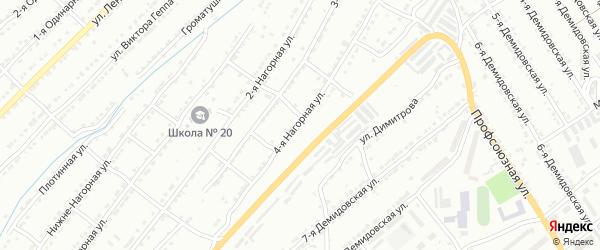 Нагорная 4-я улица на карте Златоуста с номерами домов