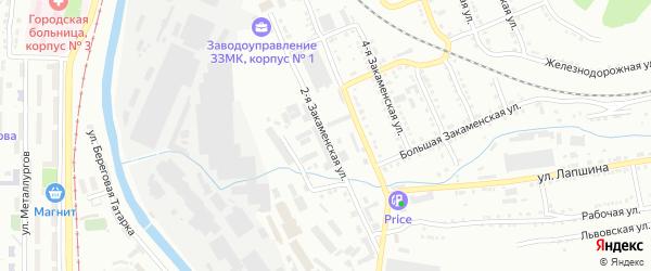 Закаменская 2-я улица на карте Златоуста с номерами домов