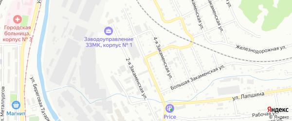 Закаменская 3-я улица на карте Златоуста с номерами домов