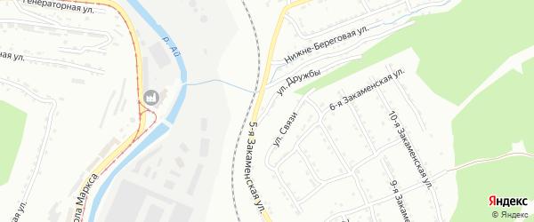Улица Дружбы на карте Златоуста с номерами домов
