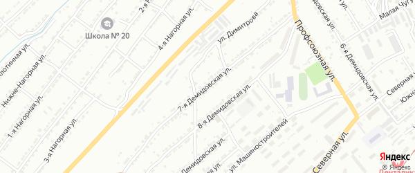 Демидовская 7-я улица на карте Златоуста с номерами домов