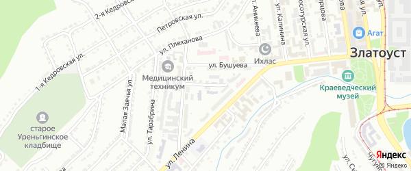 Улица им М.Г.Назарова на карте Златоуста с номерами домов