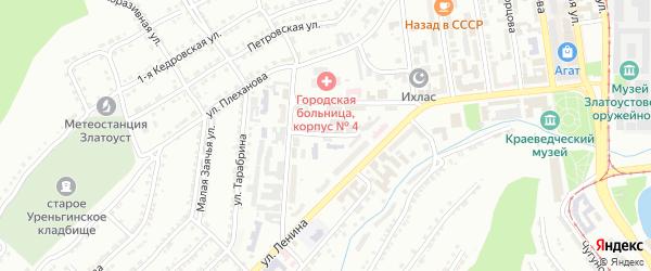Улица им М.М.Володарского на карте Златоуста с номерами домов